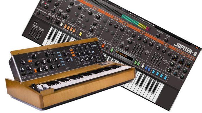Syntezatory-analogowe-MiniMoog-Model-D-Roland-Jupiter-8